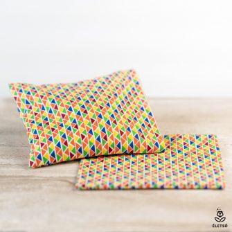 Mosható parajdi sós fülpárna védőhuzat színes háromszög